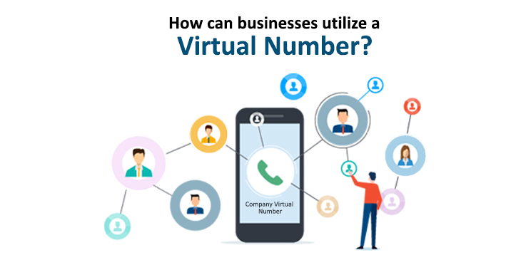 How can businesses utilize a virtual number